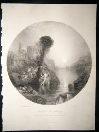 After Turner 1860 Antique Print, Bacchus and Ariadne, Art Journal